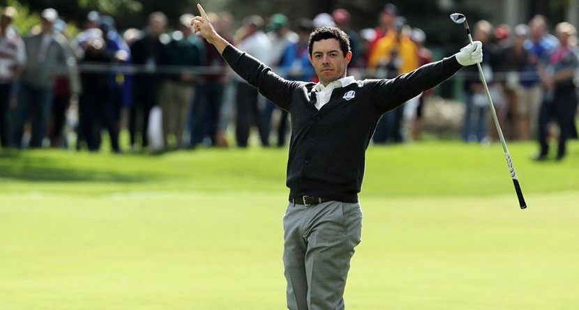 Rory Destroys Hole With Incredible Hole-Out On Thursday