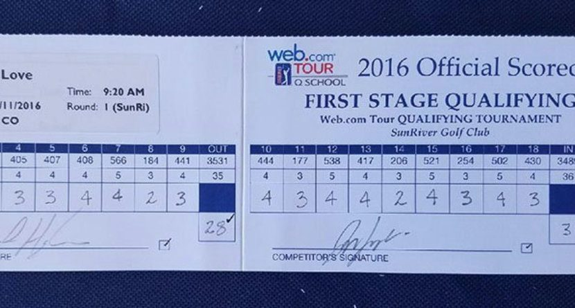 Web.com Tour Hopeful Posts Golf's Magic Number