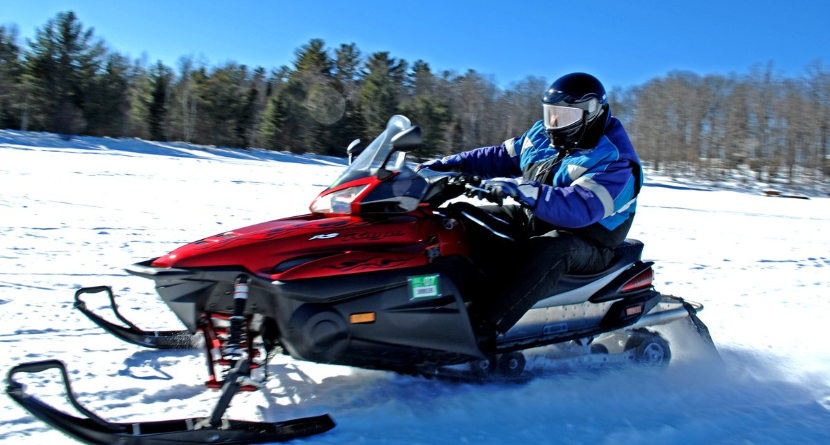 Snowmobile Joyride Rips Up Public Golf Course