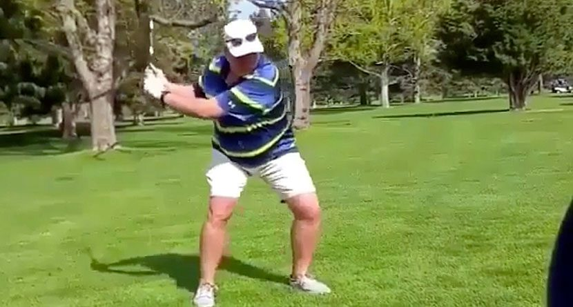 Warning: This Guy's Swing Is 'Turrible'