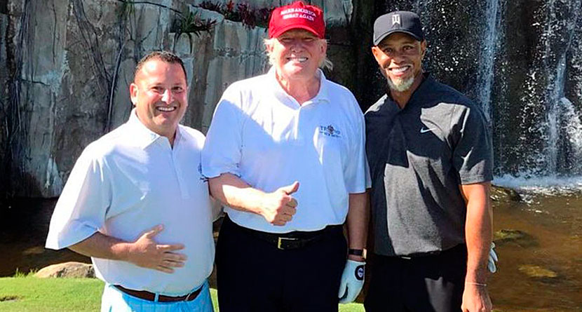 Tiger Woods, Donald Trump Tee It Up In Florida