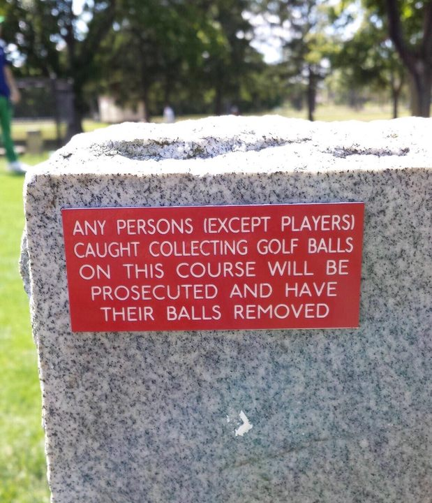 10 Hilarious and Unusual Golf Signs | SwingU Clubhouse