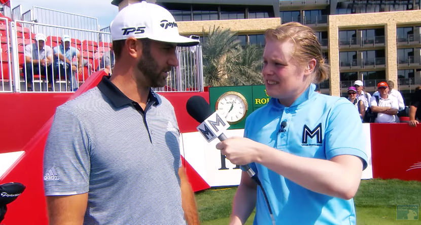 Awkward Interviewer Kills At Abu Dhabi Championship