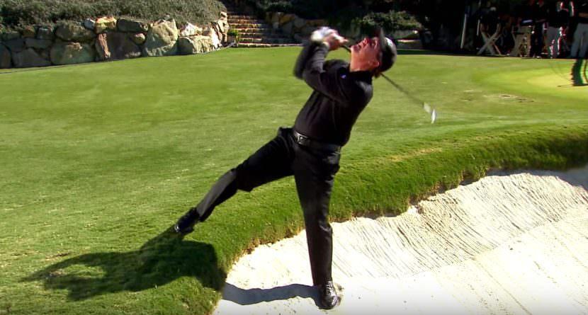 10 Wild Backwards Golf Shots