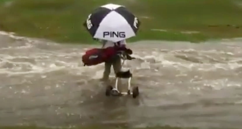 Golfer Swept Away By Overflowing Creek