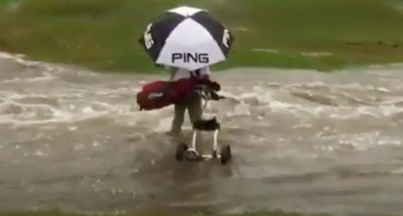 Golfer Swept Away By Overflowing Creek