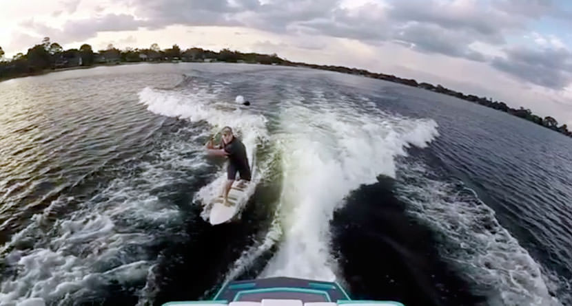 Red Bull Athlete Pulls Off Crazy Wakeboard Shot