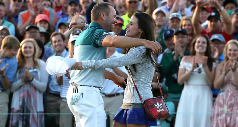 Sergio's Newborn's Name is Masters-Inspired