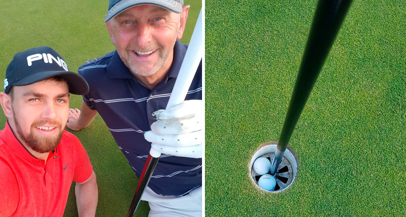 Two Scottish Golfers Halve Hole with Aces