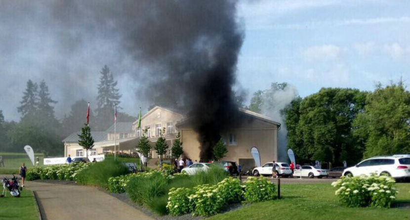 Watch: Fire Breaks Out At Pro Event