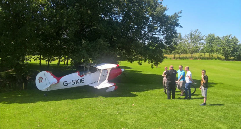 Watch: Airplane Lands on English Golf Course