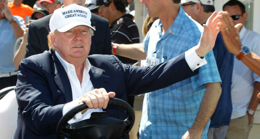 Watch: President Trump Commits Cardinal Golf Sin