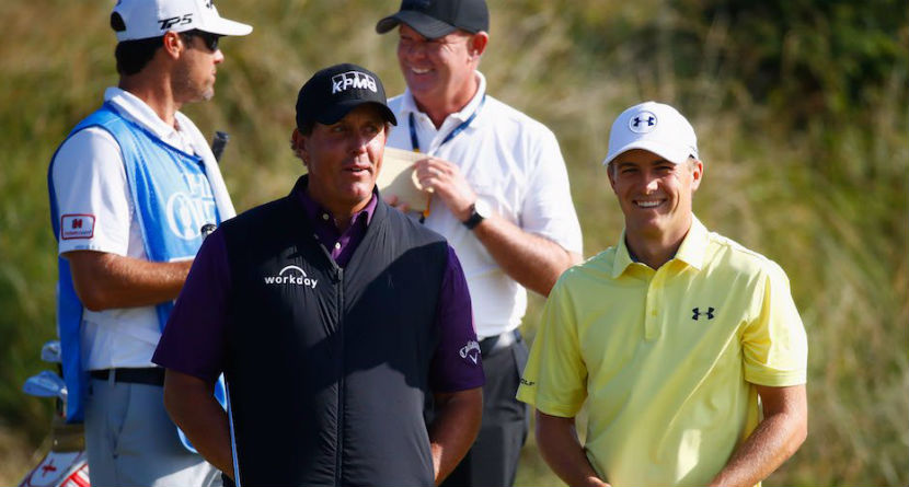 "Mickelson to Spieth: This Is For ""Past Champions"""