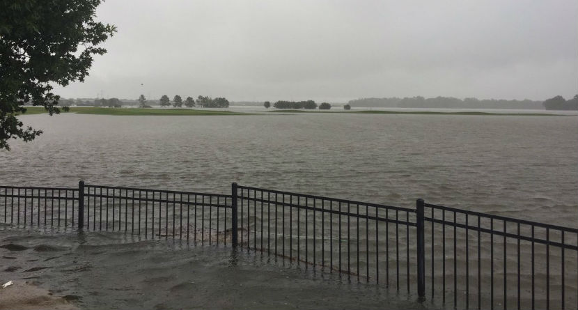 Houston Golf Courses Flooded By Hurricane Harvey
