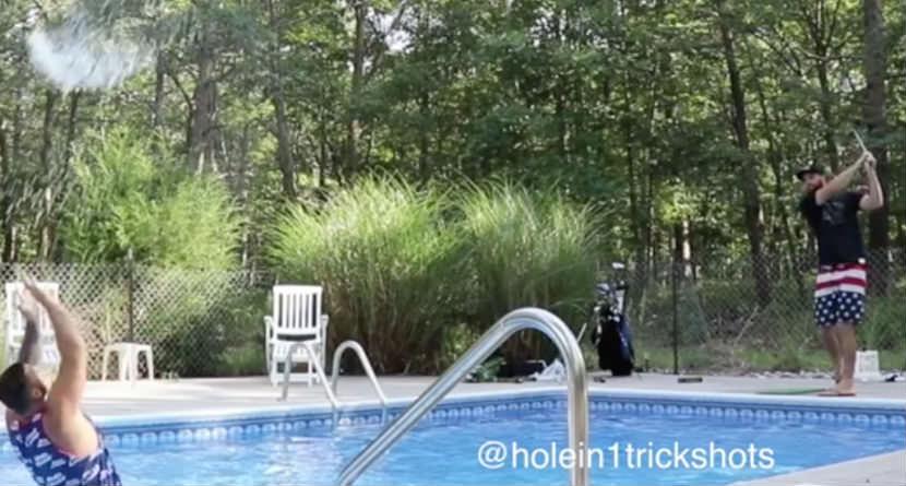 10 Cool Poolside Golf Trick Shots