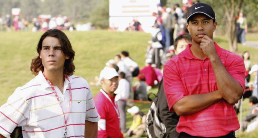 Tiger Attends U.S. Open, Sits in Nadal's Box Seats