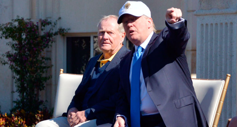 Nicklaus, Son Played Golf with President Trump
