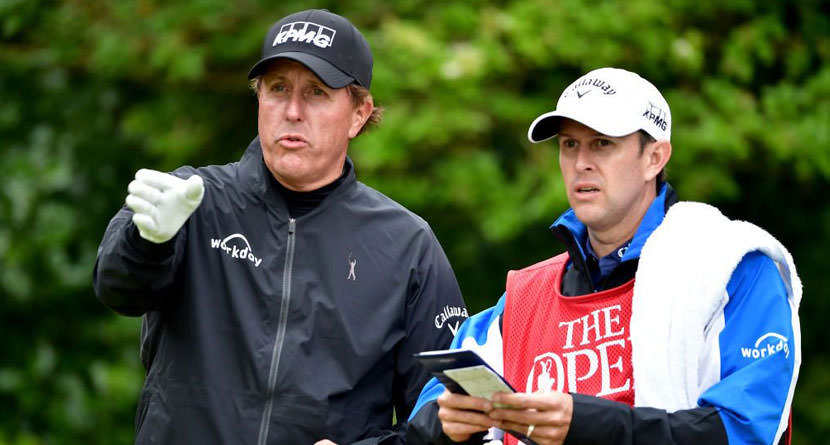 Mickelson Announces Brother Tim as Caddie