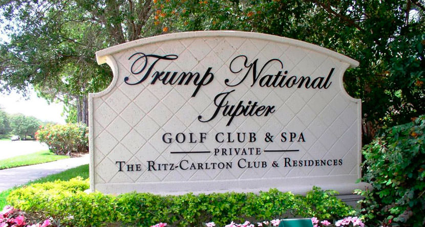 Drunk Man Crashes Stolen Taxi on Trump Course