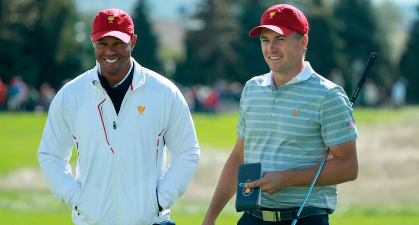 Spieth Ribs Tiger Woods Over Hero Ratings