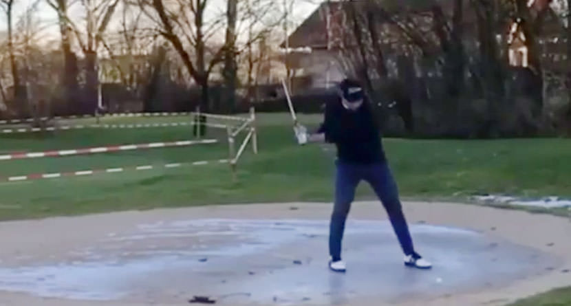 Winter Golf Trick Shot Goes Wrong
