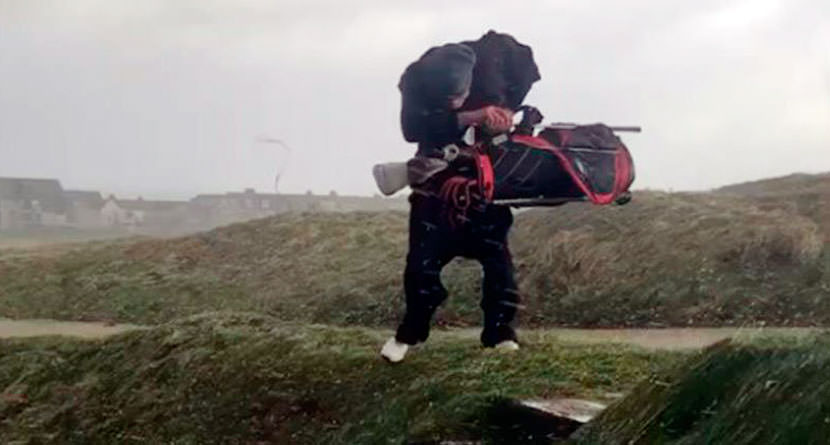 Golfer Gets Caught Playing in Ridiculous Storm