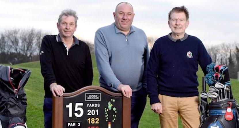 Three Golfers Ace the Same Hole on the Same Day
