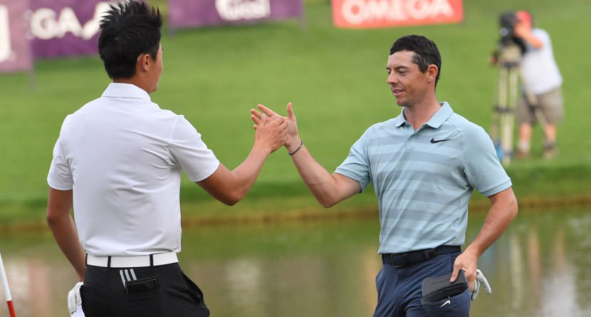 Li Comes From Behind to Beat Rory in Dubai
