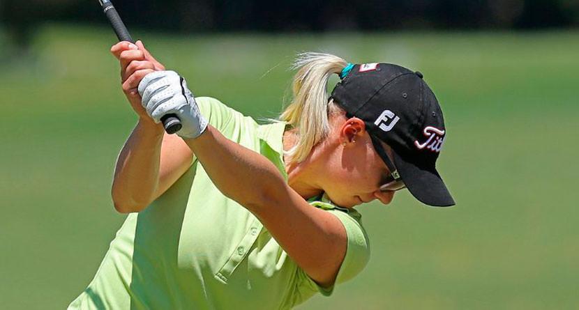 LPGA Pro Hits Caddie With Flop Shot