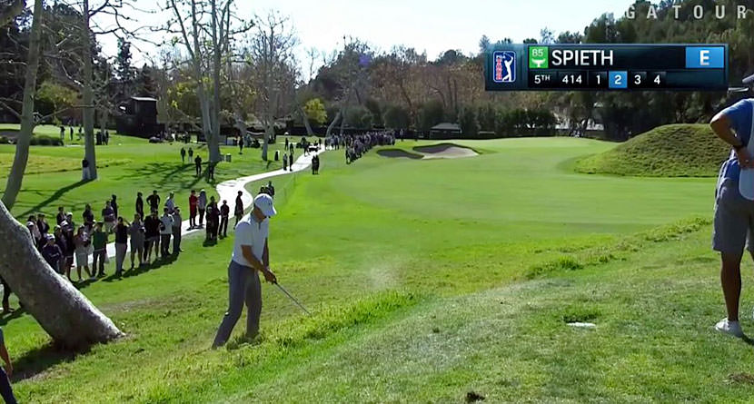 Spieth Pulls Off Near-Impossible Birdie with Chip In