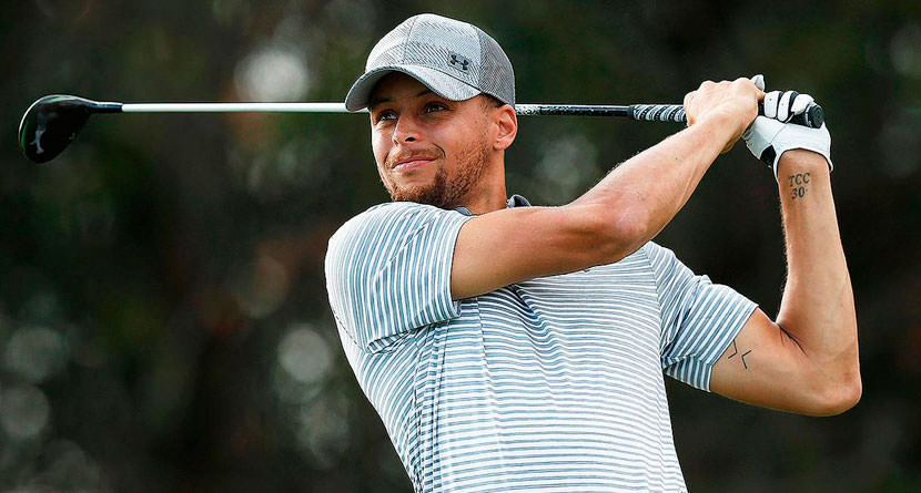Steph Curry Crashes Hotel Room with Golf Swing