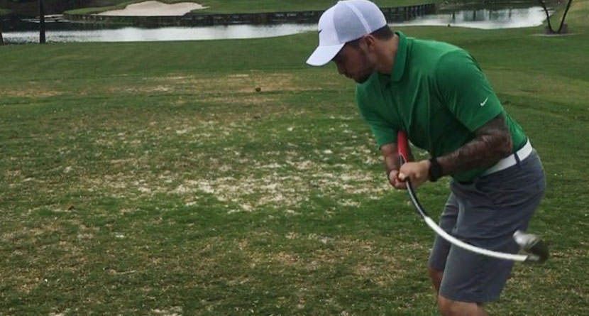 Adaptive Golfer with No Hands Makes Hole-In-One