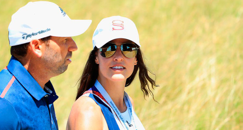 Sergio's Wife Slams Golf Channel Host For Tweet