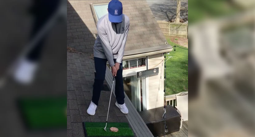 Golfer Serves Up Burgers, Hot Dogs From The Roof