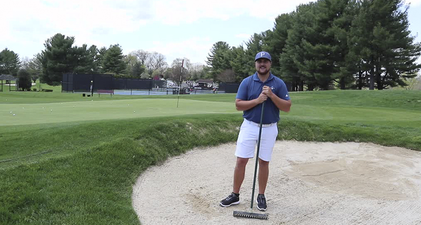 What's The Proper Technique For Raking A Bunker?