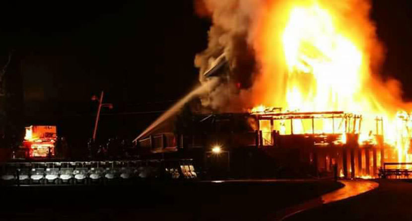 Historic Clubhouse At Ticonderoga Burns Down
