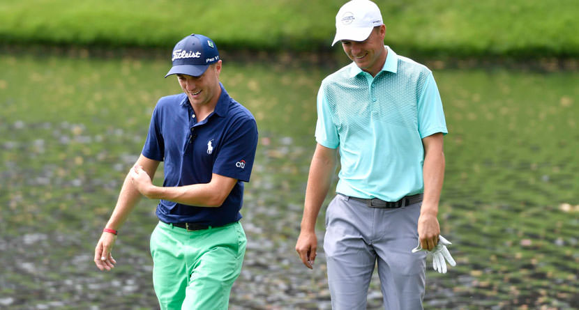 Spieth And JT Sink Back-To-Back Eagle Hole Outs
