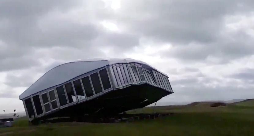 Scottish Open Hospitality Tent Blown Away