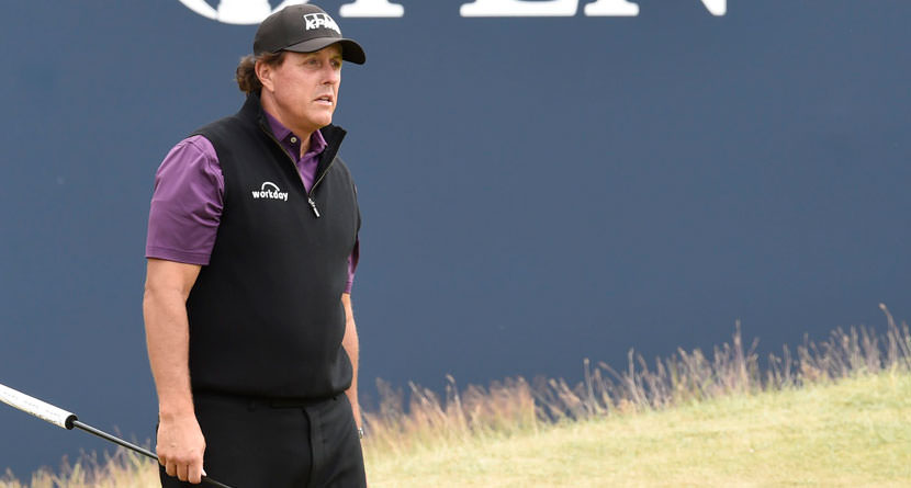 Phil Pulls Off Ridiculous Flop Shot Over Tour Pro