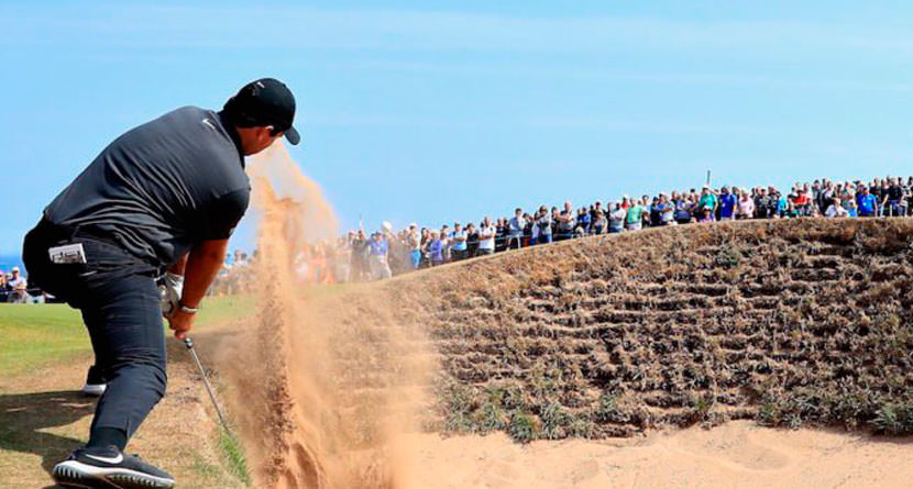 Reed Takes 3 Shots To Get Out Of Pot Bunker
