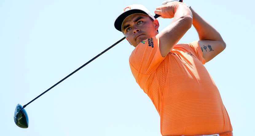 Rickie Scatters Spectators With 458-Yard Drive