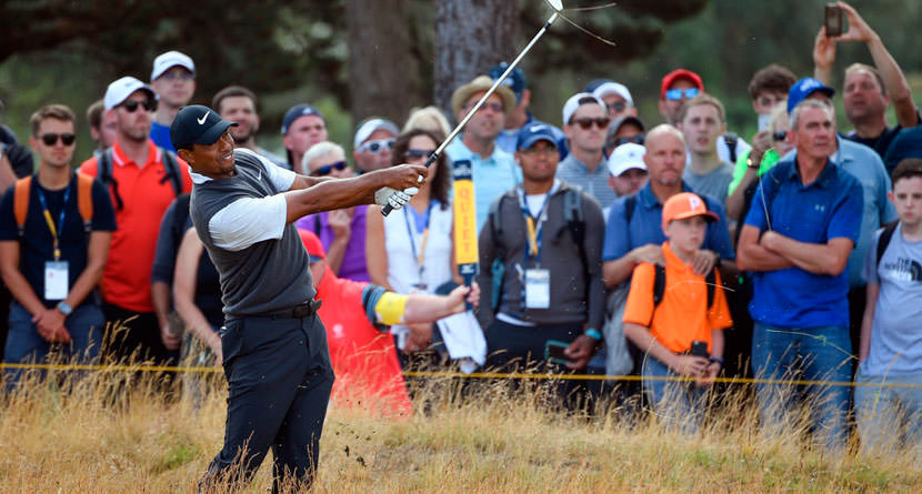 Tiger Gets Lucky Break, Capitalizes With Clutch Par Save