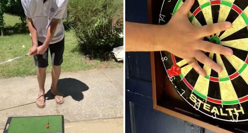 Behind Josh Kelley's Viral Dart Board Trick Shot