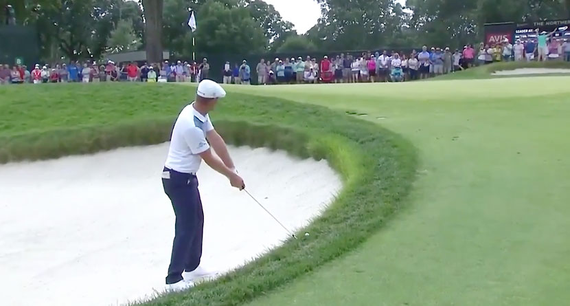 DeChambeau Gets Up-And-Down From Impossible Lie
