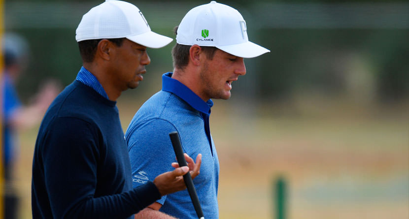 Bryson Gives Tiger Putting Lesson At Tour Championship