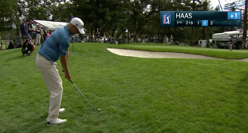 Haas Holes Impossible Short-Sided Flop Shot