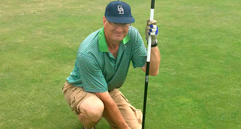 Frustrated Golfer Hits Ace With A Putter