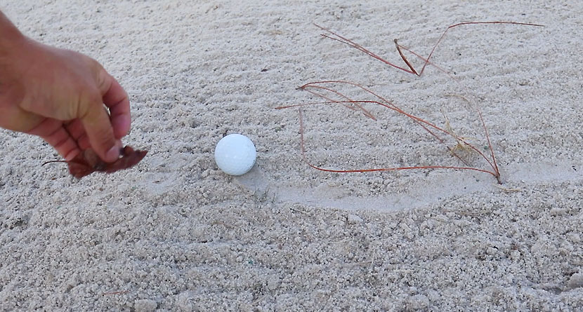 New Rule For Loose Impediments In Bunkers