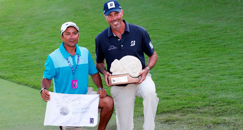 Kuchar's Local Caddie Getting Huge Payday For Win
