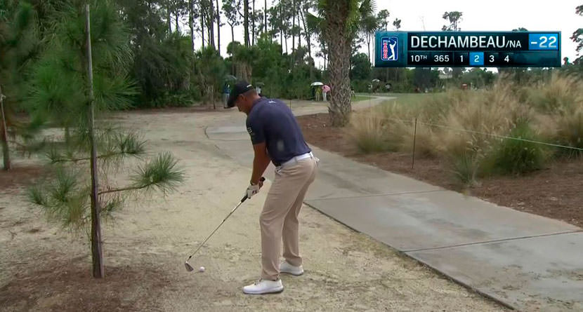 Bryson Goes Lefty To Get Out Of Trouble